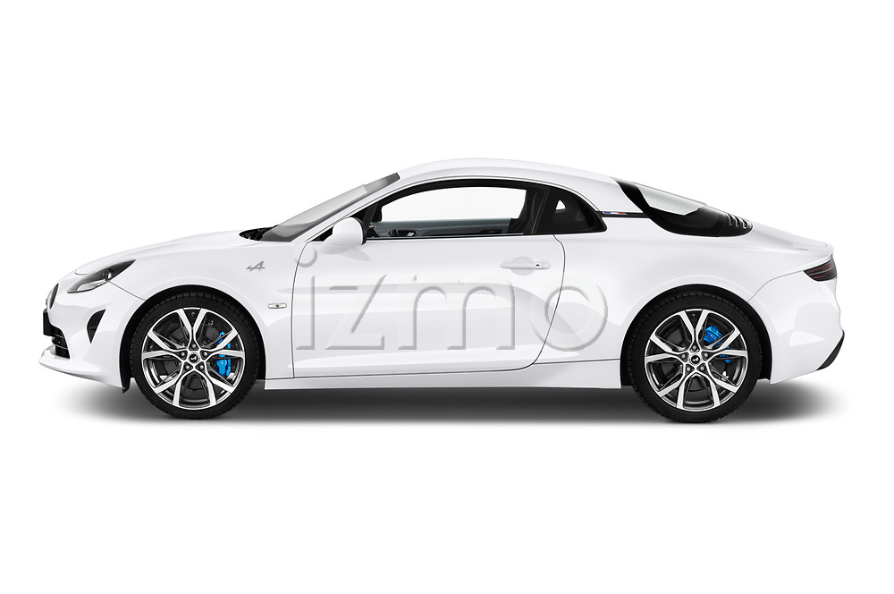 Car Driver side profile view of a 2019 Alpine A110 Pure 2 Door Coupe Side View