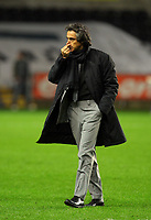 ATTENTION SPORTS PICTURE DESK<br /> Pictured: Paulo Sousa Manager of Swansea City<br /> Re: Coca Cola Championship, Swansea City Football Club v Nottingham Forest at the Liberty Stadium, Swansea, south Wales. Saturday 12 December 2009
