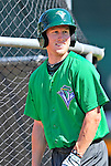 30 June 2012: Vermont Lake Monsters outfielder Brett Vertigan awaits his turn in the batting cage prior to a game against the Lowell Spinners at Centennial Field in Burlington, Vermont. Mandatory Credit: Ed Wolfstein Photo