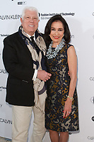 Dennis Basso and Dr. Joyce F. Brown arrive at the Future of Fashion 2017 runway show at the Fashion Institute of Technology on May 8, 2017.