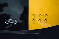 Picture by Russell Ellis/russellis.co.uk/SWpix.com - image archived on 25/04/2019 Cycling Tour de France 2018 - Team Sky at the Tour de France - STAGE 21: HOUILLES - PARIS Champs-Elysées 29/07/2018<br /> - Team Sky yellow Ford GT