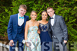 l-r Murt O'Shea,Jessica Galvin, Lianne O'Callaghan and Sean McGee enjoying the Killarney Schools Debs at the Earl of Desmond Hotel on Monday
