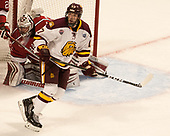 Merrick Madsen (Harvard - 31), Blake Young (UMD - 17) - The University of Minnesota Duluth Bulldogs defeated the Harvard University Crimson 2-1 in their Frozen Four semi-final on April 6, 2017, at the United Center in Chicago, Illinois.