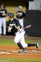 Central Florida Knights second baseman Austin Johnson #5 during a game against the Siena Saints at Jay Bergman Field on February 15, 2013 in Orlando, Florida.  UCF defeated Siena 7-1.  (Mike Janes/Four Seam Images)