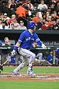 Toronto Blue Jays Justin Smoak (14) during a game against the Baltimore Orioles on April 5, 2017 at Oriole Park at Camden Yards in Baltimore, MD. The Orioles beat the Blue Jays 3-1.