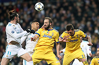 Real Madrid's Gareth Bale (l) and Carlos Henrique Casemiro (c-l) and Juventus Football Club's Gonzalo Higuain (c-r) and Mario Mandzukic during Champions League Quarter-Finals 2nd leg match. April 11,2018. (ALTERPHOTOS/Acero) /NortePhoto.com