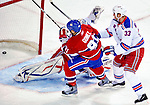 23 January 2010: Montreal Canadiens' center Scott Gomez scores the first goal of the game in the first period against the New York Rangers at the Bell Centre in Montreal, Quebec, Canada. The Canadiens shut out the Rangers 6-0. Mandatory Credit: Ed Wolfstein Photo