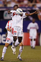 The Chicago Fire's Dipsy Selolwane. The Chicago Fire played the NY/NJ MetroStars to a one all tie at Giant's Stadium, East Rutherford, NJ, on May 15, 2004.