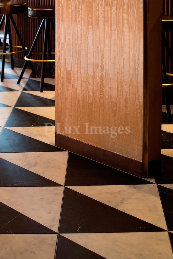 black and white marble floor Sant Ambroeus Soho