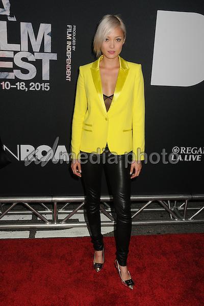 "8 June 2015 - Los Angeles, California - Pom Klementieff. LA Film Festival 2015 Premiere of ""Dope"" held at Regal Cinemas L.A. Live. Photo Credit: Byron Purvis/AdMedia"
