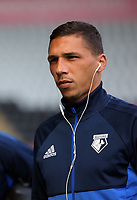 Jose Holebas of Watford arrives prior to the game during the Premier League match between Swansea City and Watford at The Liberty Stadium, Swansea, Wales, UK. Saturday 23 September 2017