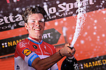 Bob Jungels (LUX) Quick-Step Floors wins Stage 15 of the 100th edition of the Giro d'Italia 2017, running 199km from Valdengo to Bergamo, Italy. 21st May 2017.<br /> Picture: LaPresse/Gian Mattia D'Alberto | Cyclefile<br /> <br /> <br /> All photos usage must carry mandatory copyright credit (&copy; Cyclefile | LaPresse/Gian Mattia D'Alberto)