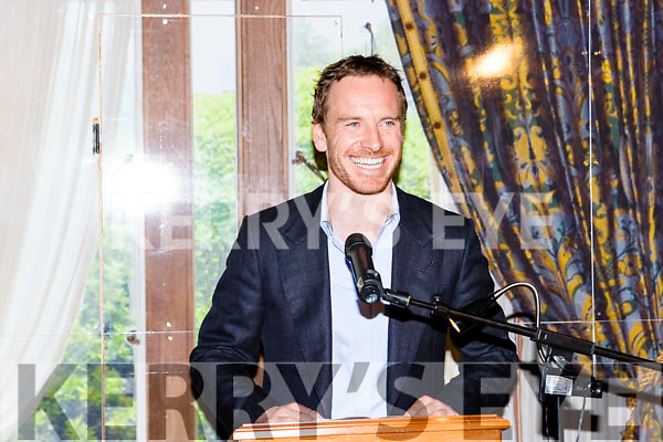 Michael Fassbender with the Order of Inisfallen at Muckross House Killarney on Friday night
