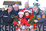 Derry Joy, Billy Joy, Catriona Morrissey, Brid Coffey, Trevor Wharton and Martin Joy Killarney getting into the festive spirit at the start of the charity motorbike run in Doyles garage Sunday morning    Copyright Kerry's Eye 2008