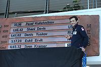 SPEEDSKATING: SALT LAKE CITY: 10-12-2017, Utah Olympic Oval, ISU World Cup, Denis Yuskov (RUS) World record holder 1500m Men 1.41,02, ©photo Martin de Jong