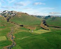 Egilsstaðir séð til suðurs, Vopnafjarðarhreppur / Egilsstadir viewing south, Vopnafjardarhreppur.