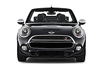 Car photography straight front view of a 2016 MINI MINI Cooper-S-Fwd 2 Door Convertible Front View