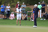 Matt Wallace (ENG) on the 13th during the 1st round of the DP World Tour Championship, Jumeirah Golf Estates, Dubai, United Arab Emirates. 21/11/2019<br /> Picture: Golffile | Fran Caffrey<br /> <br /> <br /> All photo usage must carry mandatory copyright credit (© Golffile | Fran Caffrey)