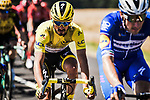 The peloton including race leader Yellow Jersey Julian Alaphilippe (FRA) Deceuninck-Quick Step during Stage 4 of the 2019 Tour de France running 213.5km from Reims to Nancy, France. 9th July 2019.<br /> Picture: ASO/Pauline Ballet | Cyclefile<br /> All photos usage must carry mandatory copyright credit (© Cyclefile | ASO/Pauline Ballet)