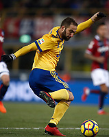Calcio, Serie A: Bologna vs Juventus, stadio Renato D'Allara, Bologna,17 dicembre 2017.<br /> Juventus' Gonzalo Higuain in action during the Italian Serie A football match between Bologna and Juventus at Bologna's Renato D'Allara stadium, December 17, 2017.<br /> UPDATE IMAGES PRESS/Isabella Bonotto