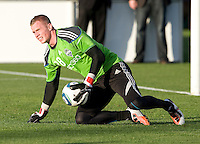 Terry Boss of Sounders warms up during practice before the game against the Earthquakes at Buck Shaw Stadium in Santa Clara, California on April 2nd, 2011.   San Jose Earthquakes and Seattle Sounders are tied 2-2.
