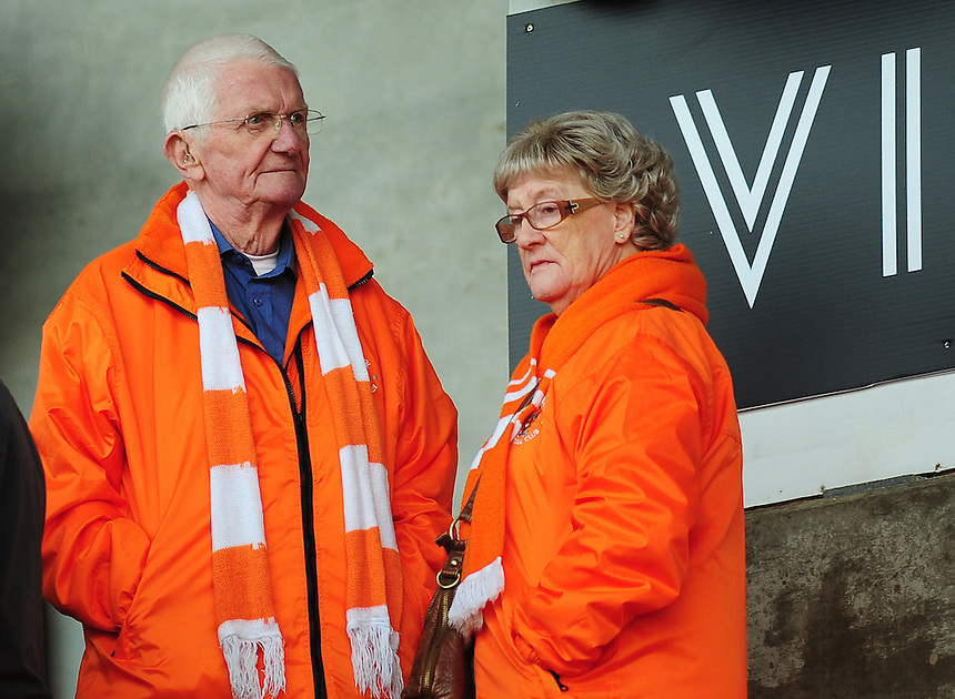 Blackpool fans before todays match<br /> <br /> Photographer Kevin Barnes/CameraSport<br /> <br /> Football - The Football League Sky Bet League One - Blackpool v Swindon Town - Saturday 3rd October 2015 - Bloomfield Road - Blackpool<br /> <br /> &copy; CameraSport - 43 Linden Ave. Countesthorpe. Leicester. England. LE8 5PG - Tel: +44 (0) 116 277 4147 - admin@camerasport.com - www.camerasport.com
