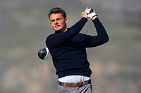 Ryan Lumsden from Scotland on the 4th tee during Round 2 Singles of the Men's Home Internationals 2018 at Conwy Golf Club, Conwy, Wales on Thursday 13th September 2018.<br /> Picture: Thos Caffrey / Golffile<br /> <br /> All photo usage must carry mandatory copyright credit (&copy; Golffile | Thos Caffrey)