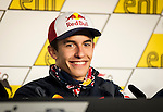Press conference on the Sachenring circuit of the rider Marc Marquez prior to grand prize. Germany. 10/07/2014. Samuel de Roman / Photocall3000.
