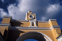The Santa Catalina arch in the Spanish colonial city of Antigua, Guatemala