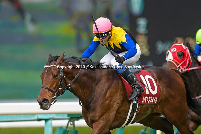 TAKARAZUKA,JAPAN-MAR 22: You Can Smile #10,ridden by Yasunari Iwata,wins the Hanshin Daishoten at Hanshin Racecourse on March 22,2020 in Takarazuka,Hyogo,Japan. Kaz Ishida/Eclipse Sportswire/CSM