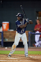 New Hampshire Fisher Cats outfielder Roemon Fields (4) at bat during a game against the Harrisburg Senators on July 21, 2015 at Metro Bank Park in Harrisburg, Pennsylvania.  New Hampshire defeated Harrisburg 7-1.  (Mike Janes/Four Seam Images)