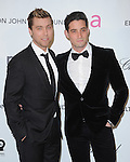 Lance Bass and date at the 21st Annual Elton John AIDS Foundation Academy Awards Viewing Party held at The City of West Hollywood Park in West Hollywood, California on February 24,2013                                                                               © 2013 Hollywood Press Agency