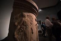 """First iconography of women inebriated (drunk) (Source, a tourist guide).<br /> <br /> Rome, 03/11/2019. Vising and documenting Palazzo Massimo part of the Museo Nazionale Romano (National Roman Museum).<br /> «The National Roman Museum was born in 1889 as one of the main centers of historical and artistic culture of the united Italy. In addition to welcoming and exhibiting the works of historical collections passed to the State and the numerous antiquities that emerged from the works of adaptation of Rome to its new role as Capital of the Kingdom of Italy, the Museum was intended to increase the historical and artistic heritage of the city and contribute with it in the most effective way to the increase of culture. About a century after its establishment in the Terme/Baths of Diocletian, the Museum was reorganized into four distinct locations: the Palazzo Massimo, Palazzo Altemps and the Crypta Balbi were added to the Terme/Baths […]» (1.).<br /> «Il Museo Nazionale Romano nasce nel 1889 come uno dei principali centri di cultura storica ed artistica dell'Italia unita. Oltre ad accogliere ed esporre le opere di collezioni storiche passate allo Stato e le numerose antichità che emergevano dai lavori di adeguamento di Roma al suo nuovo ruolo di Capitale del Regno d'Italia, il Museo era destinato ad accrescere il patrimonio storico ed artistico della città e contribuire con esso nel modo più efficace all'incremento della cultura. Circa un secolo dopo la sua istituzione nelle Terme di Diocleziano, il Museo è stato riorganizzato in quattro sedi distinte: alle Terme si sono aggiunti Palazzo Massimo, Palazzo Altemps e la Cryptca Balbi […]» (1.).<br /> This visit was possible thanks to the company of Artist and Curator, Flavio Marzadro and the Italian State initiative: """"Domeniche al Museo"""" (Sunday at the Museum, 2.).<br /> <br /> Footnotes & Links:<br /> 1. https://www.museonazionaleromano.beniculturali.it/it/143/il-museo<br /> 2. http://bit.do/fDCj6<br /> (Wikipedia.org, EN"""