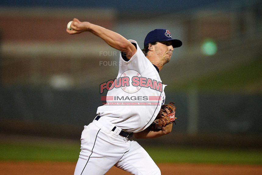 Hudson Valley Renegades pitcher Taylor Guerrieri #17 during the NY-Penn League All-Star Game at Eastwood Field on August 14, 2012 in Niles, Ohio.  National League defeated the American League 8-1.  (Mike Janes/Four Seam Images)
