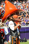 Oklahoma State Cowboys mascot, Pistol Pete, in action during the game between the OSU Cowboys and the TCU Horned Frogs at the Amon G. Carter Stadium in Fort Worth, Texas. TCU defeated OSU 42 to 9.
