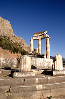 Quiet place of refuse at the Temple of Apollo 4th Century in Delphi Greece