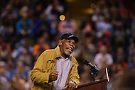 Baltimore, MD - April 23, 2016: Actor Danny Glover speaks during a presidential campaign rally for Sen. Bernie Sanders at the Royal Farms Arena in Baltimore, MD, April 23, 2016.  (Photo by Don Baxter/Media Images International)