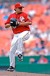 5 August 2007: Washington Nationals pitcher Chad Cordero in action against the St. Louis Cardinals at RFK Stadium in Washington, DC. The Nationals defeated the Cardinals 6-3 to sweep their 3-game series...Mandatory Photo Credit: Ed Wolfstein Photo