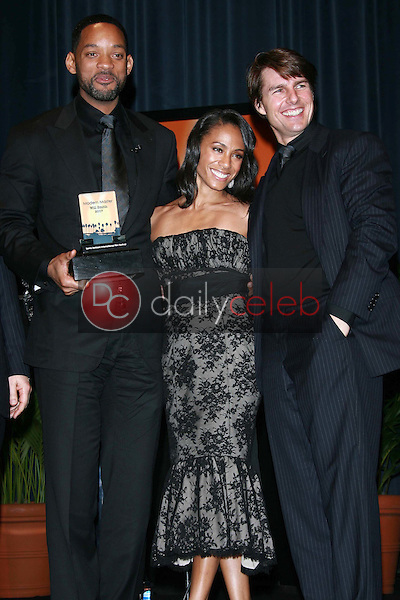 Will Smith with Jada Pinkett Smith and Tom Cruise<br />