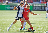 Portland, OR - Saturday September 02, 2017: Cali Farquharson, Allie Long during a regular season National Women's Soccer League (NWSL) match between the Portland Thorns FC and the Washington Spirit at Providence Park.