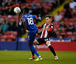 Daniel Amartey of Leicester City and David Brooks of Sheffield Utd during the Carabao Cup, second round match at Bramall Lane, Sheffield. Picture date 22nd August 2017. Picture credit should read: Simon Bellis/Sportimage
