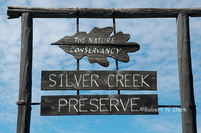 Entry sign at Silver Creek Preserve