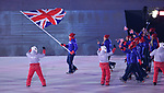 Lizzy Yarnold (GBR) carries the flag and leads the teamGB delegation into the stadium. Opening Ceremony. Pyeongchang2018 winter Olympics. Olympic stadium. Pyeongchang. Republic of Korea. 09/02/2018. ~ MANDATORY CREDIT Garry Bowden/SIPPA - NO UNAUTHORISED USE - +44 7837 394578