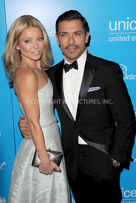 WWW.ACEPIXS.COM . . . . . .November 27, 2012...New York City....Kelly Ripa and  Mark Consuelos attend the Unicef Snowflake Ball at Cipriani 42nd Street on November 27, 2012 in New York City ....Please byline: KRISTIN CALLAHAN - ACEPIXS.COM.. . . . . . ..Ace Pictures, Inc: ..tel: (212) 243 8787 or (646) 769 0430..e-mail: info@acepixs.com..web: http://www.acepixs.com .