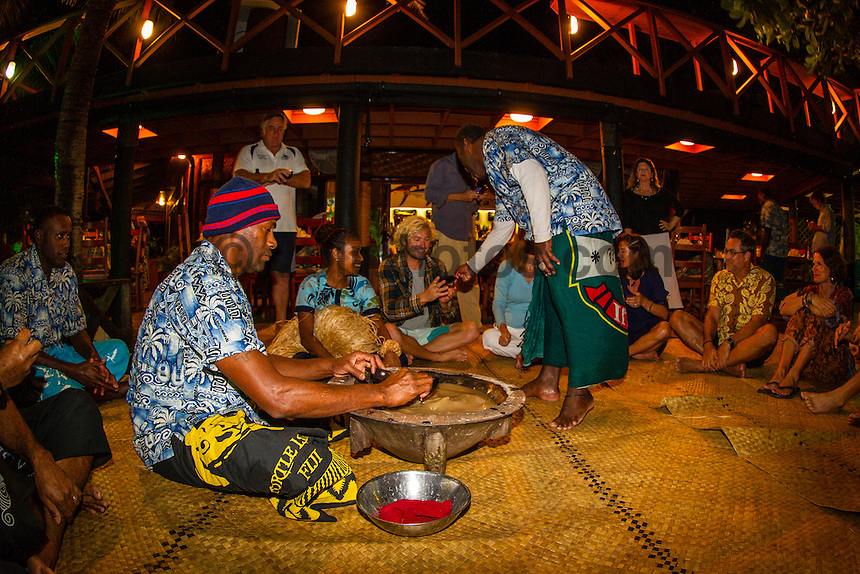 Namotu Island Resort, Fiji. (Thursday, May 31, 2012) Adrian Buchan (AUS)  enjoying Kava Night on Namotu Island. -   Strong winds and a very messy ocean meant no surfing today. Photo: joliphotos.com