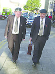 Deputy Jackie Healy Rae TD and his son Councillor Michael Healy Rae  at Tralee Court on Thursday..Pic: MacMonagle, Killarney Jackie Healy-Rae, TD from the book by Don MacMonagle entitled 'Jackie - Keeping Up Appearances' published in 2002.