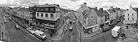 A panorama of the view from the clock at the Market Cross taken whicle the clock was removed for repair in 1985.<br /> Photo Don MacMonagle