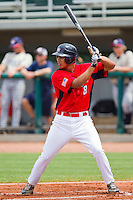 Rio Ruiz #8 of Babe Ruth at bat against PONY at the 2011 Tournament of Stars at the USA Baseball National Training Center on June 25, 2011 in Cary, North Carolina.  Babe Ruth defeated PONY by the score of 10-9. (Brian Westerholt/Four Seam Images)