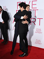 07 March 2019 - Westwood, California - Dylan Sprouse, Cole Sprouse. &quot;Five Feet Apart&quot; Los Angeles Premiere held at the Fox Bruin Theatre. <br /> CAP/ADM/BT<br /> &copy;BT/ADM/Capital Pictures
