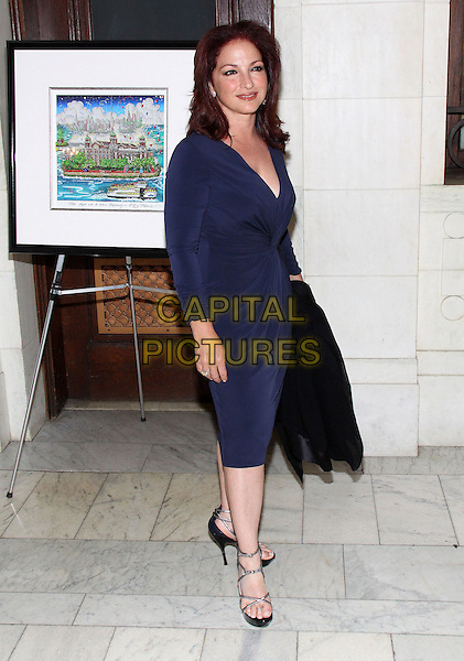 GLORIA ESTEFAN.23rd Annual Elis Island Medals of Honor Ceremony & Gala held at National Museum of the American Indian US Custom House, New York, NY, USA..May 8th, 2009.full length blue dress .CAP/ADM/PZ.©Paul Zimmerman/AdMedia/Capital Pictures.